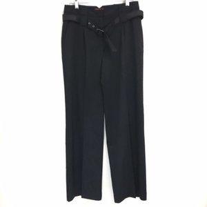 Elle black wide leg belted dress pants size 4